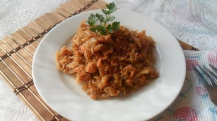 Приготовление тушеной капусты с яйцом — пошаговая инструкция