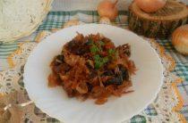 Как вкусно потушить капусту с грибами?