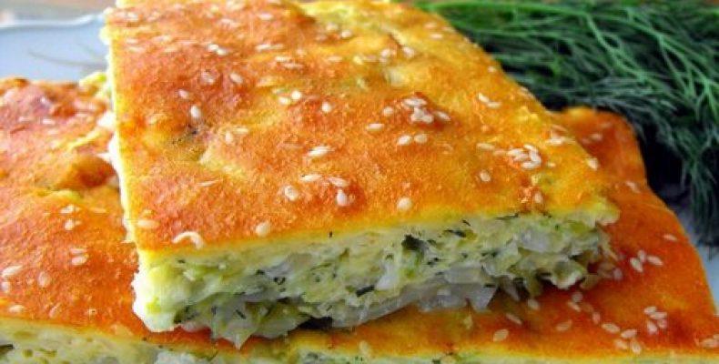 заливной пирог с капустой на майонезе рецепт с фото в духовке
