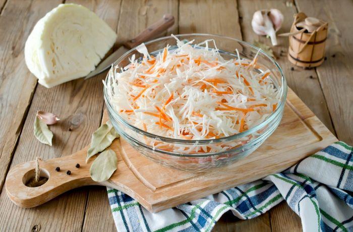 суточная капуста с морковью