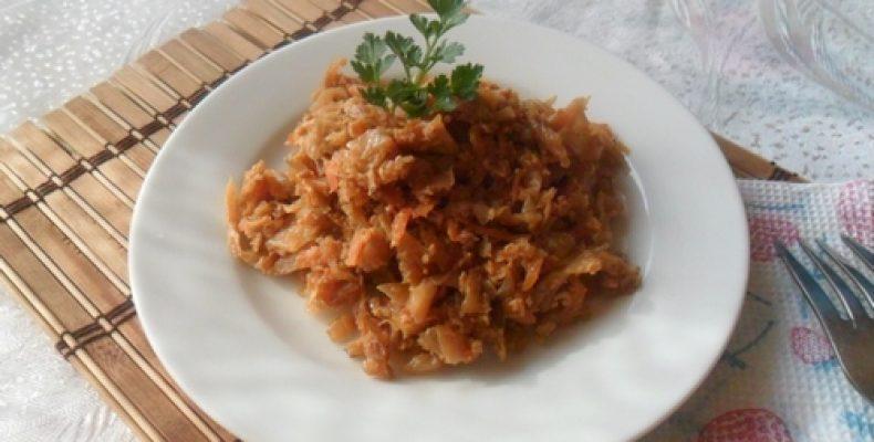 Приготовление тушеной капусты с яйцом – пошаговая инструкция